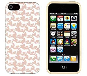 iPhone 5 / 5S Case, Sunshine Case PERFECT PATTERN *No Chip/No Peel* Flexible Slim Case Cover for Apple iPhone 5 / 5S - LIFETIME WARRANTY [Galloping Horse]