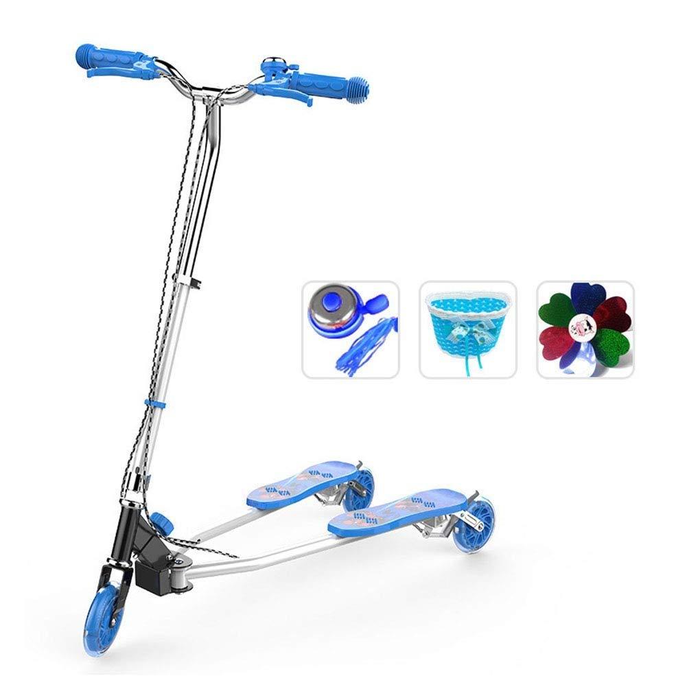 スクーターを蹴る子供たち スクーター、スイングカー、三輪車、自転車 (色 : 青) 青