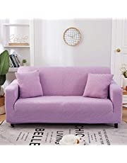 Stretch bankhoezen 3-zits voor woonkamer, spandex meubelbankhoes, hoekelastische bankhoezen bankkussenovertrekken (3-zits, grijs)