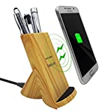 Wood Grain Wireless charger Stand, 10W Qi Fast Charging for Iphone 8/8 plus iphone X Galaxy S8/S8 plus Note 8 S7/S7 Edge S6/S6 Edge/S6 and All Qi-Enabled Devices (wooden)