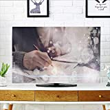 Philiphome TV dust Cover Man typ Keyboard Laptop Project Manager Research Process Team Work Startup TV dust Cover W36 x H60 INCH/TV 65''