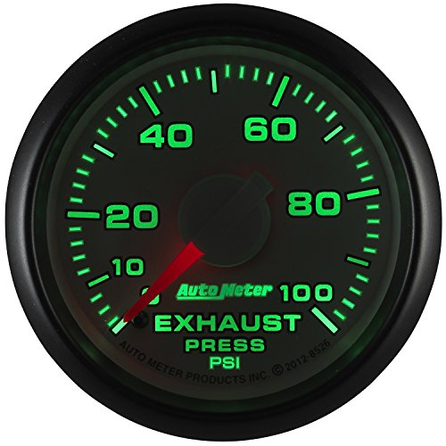 Auto Meter (8526) Dodge Match 2-1/16'' 0-100 PSI Mechanical Exhaust Pressure Gauge by Auto Meter (Image #1)
