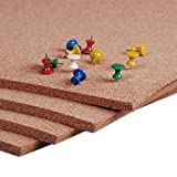 Manton Cork Sheet, 100% Natural, 4' x 4' x 1/2' - Thickest Available