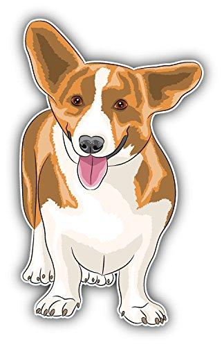 Welsh Corgi Dog Art Decor Bumper Sticker 3'' x 5''