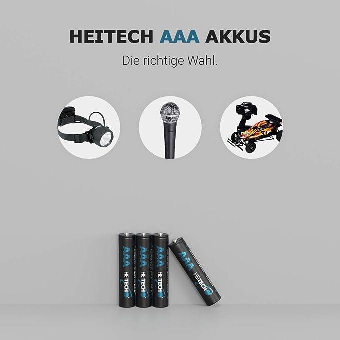Heitech 1150 Akku Aaa Micro 8 Nimh Wiederaufladbare Elektronik