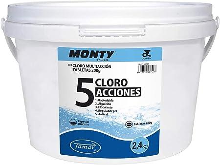 LOLAhome Cloro en tabletas de 200 gr de 5 Funciones de 2,4 kg