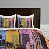 DENY Designs  Irena Orlov New York Downtown Duvet Cover, Queen