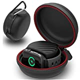 Apple Watch Charger, Eletespt Apple Watch Portable Charging Holder Dock,Charger Cases and Sport Hard Protective Portable Carry Travel Case for Apple Watch Charger Smart Watches (BLACK)