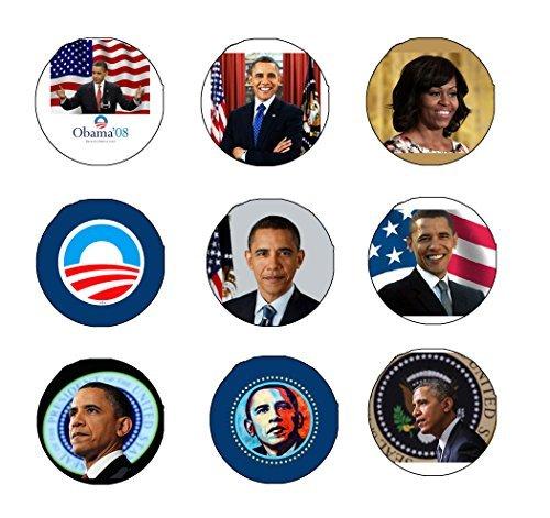 - 9 Pcs Barack Obama 1.25