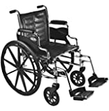 """Invacare Tracer EX2 Swingaway Wheelchair Seat Size 16"""" x 16"""" with Articulating Legs, Aluminum Footplates"""