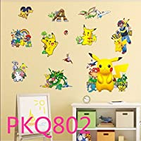 CXZC Pokemon Wall Art Stickers, Cartoon Character...
