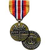 United States Military Armed Forces Full Size Medal - US Merchant Marine - Pacific War Zone