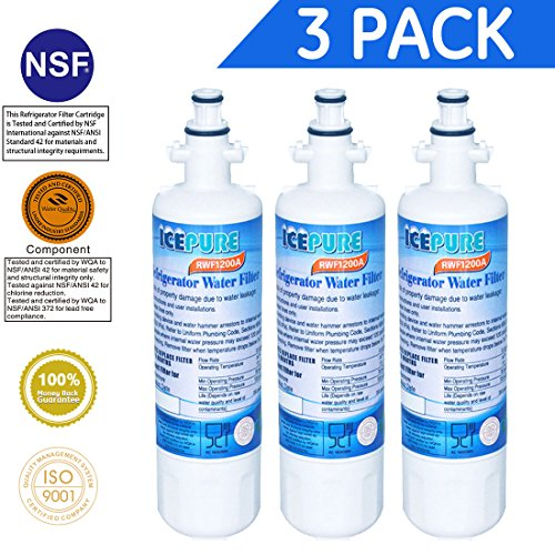 ICEPURE LT700P Refrigerator Water Filter Replacement for LG LT700P , ADQ36006101, ADQ36006102, KENMORE 469690,...