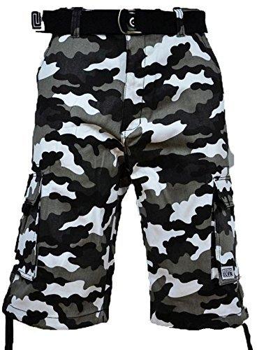Pro Club Men's TWILL CARGO SHORT PANTS - City Camo Pants: 32