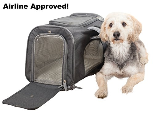 Products4Now Soft Pet Carrier Airline Approved for Cats, Small Dogs and Pets. Sturdy Deluxe Travel Bag with Shoulder Straps, Mesh Windows and Fleece Bedding. Under Seat Compatibility