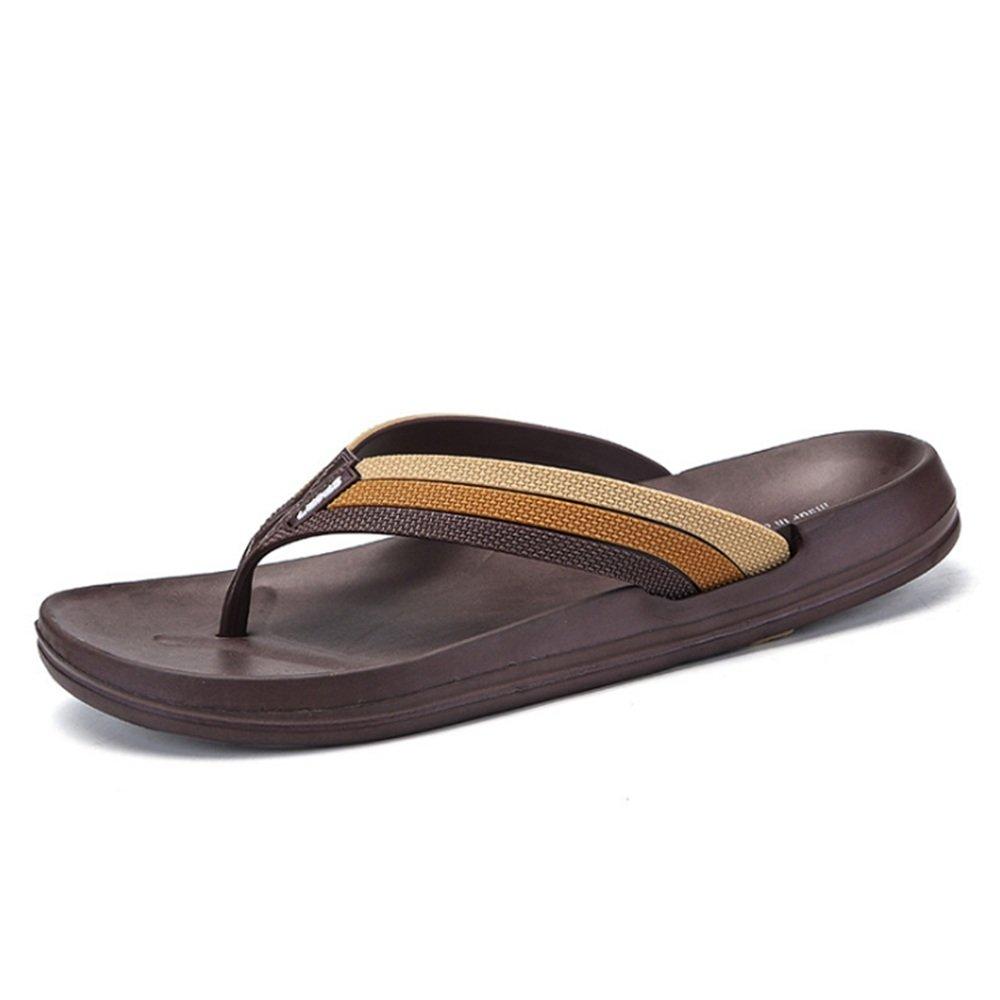 Wangcui Pantoffel-Männer Sommer-Freizeit Anti-Rutsch-Strand-Schuhe Breathable Slippers : (Farbe : Schwarz, Größe : Slippers 40 2/3 EU) Braun fcfa82