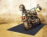 Motorcycle, Golf cart, Go-kart, Mountain Bike Floor Mat,Absorbent Fabric,Anti-slip and Waterproof Backing,Washable,Garage and Shop Parking Mats