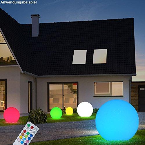 2 x lampe LED RVB jardin changeur de couleur boule luminaire ...