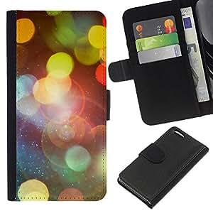 JackGot ( Bokeh Lights ) Apple Iphone 5C la tarjeta de Crédito Slots PU Funda de cuero Monedero caso cubierta de piel