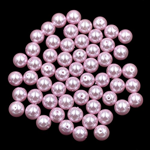AD Beads Top Quality Czech Glass Pearl Round Loose Beads 3mm 4mm 6mm 8mm 10mm 12mm (6mm (200 Pcs), Light Pink)