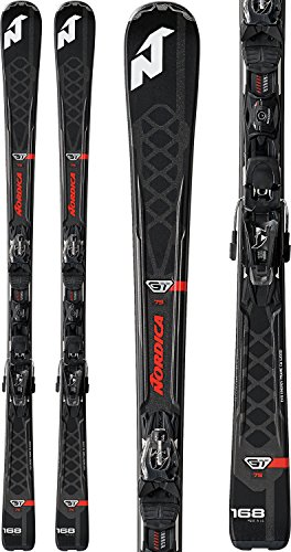 Nordica GT 75 Evo Skis w/ ADV P.R. Evo Bindings Mens Sz 176cm (Ski Mens Nordica)