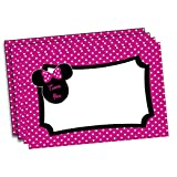 Minnie Mouse Inspired Thank You Note Cards, 4 inches by 6 inches, Envelopes Included