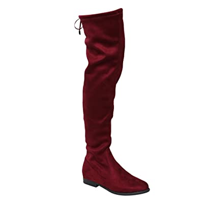 Amazon.com | LILIANA GD97 Women's Drawstring Thigh High Flat ...
