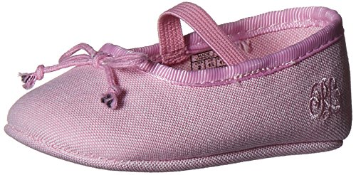 Ralph Lauren Layette Nellie Skimmer with Bow (Infant/Toddler), Pink Oxford, 3 M US Infant (Skimmer Pink)