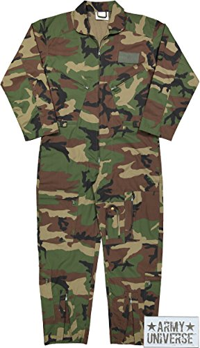 Army Universe Air Force Flight Suits, US Military Type Coveralls, Uniform Overalls/Jumpsuits Pin (Camouflage, Large)