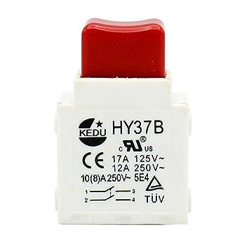 KEDU HY37B - 2 interruptores de herramientas eléctricas 125/250 V ...