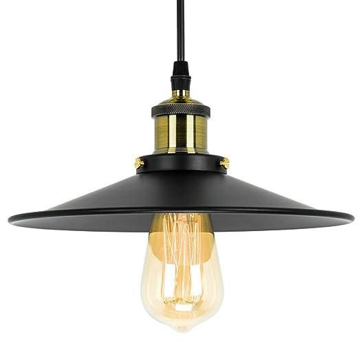 Amazon.com: Lámpara de techo industrial de 1 luz, acabado ...