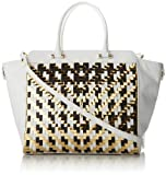 MILLY Dylan Woven Tote, White