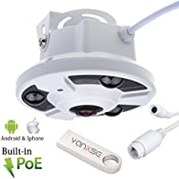 Vanxse Cctv 1080P POE 2.0MP 360 degree Panoramic CCTV Security IP Network FishEye CAMERA waterproof