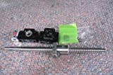 1x Antibacklash RM1605--620 mm Ballscrew & nut+BF12/BK12+6.35*10 mm Couplering