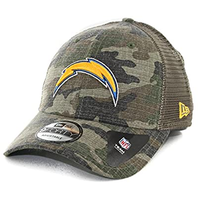 Los Angeles Chargers Camo Trucker Duel New Era 9FORTY Adjustable Snapback Hat / Cap by New Era