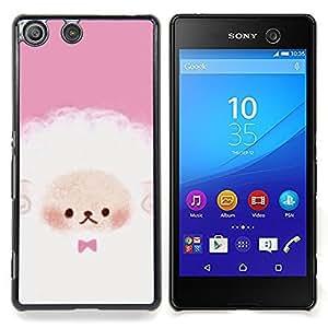 Puppy Cute Pink White Sheep Caja protectora de pl??stico duro Dise?¡Àado King Case For Sony Xperia M5