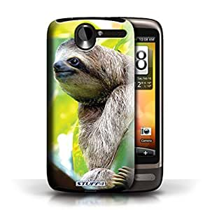 KOBALT? Protective Hard Back Phone Case / Cover for HTC Desire G7 | Sloth Design | Wildlife Animals Collection