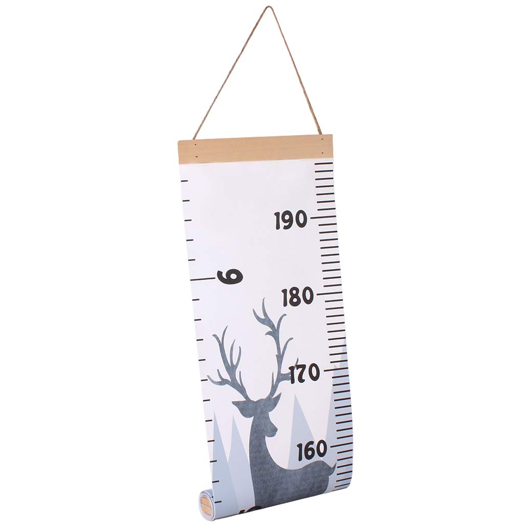 Great for Nurseries Wall Decor Kid Growth Chart Canvas /& Wood Wall Ruler for Boys and Girls Cartoon Patterns Bedrooms C 79 x 8.3 Inches 79 x 8.3 Inches