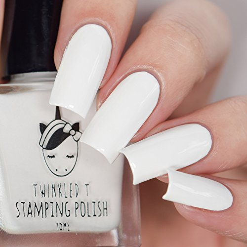 Glow Up White Stamping Polish by Twinkled T