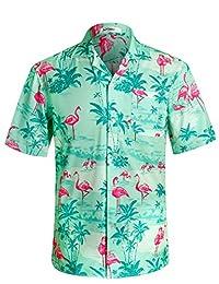 APTRO Men's Hawaiian Shirt Short Sleeve Beach Party Aloha Shirts
