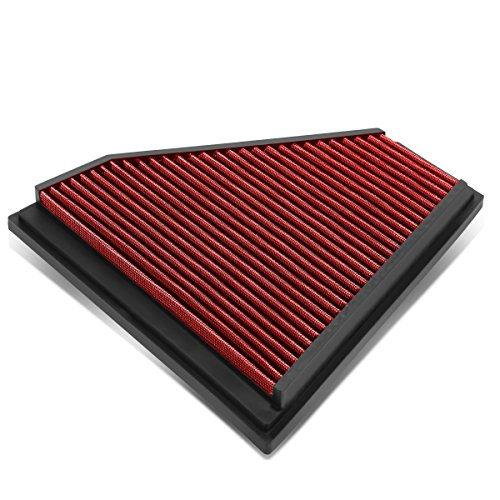 For BMW 325i / 328i Reusable & Washable Replacement High Flow Drop-in Air Filter (Red)