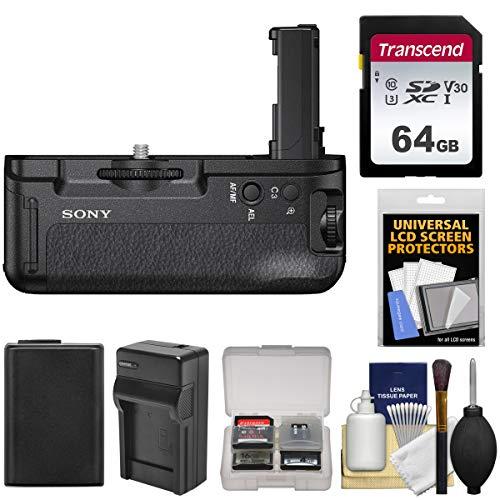 گرفتن باتری عمودی Sony VG-C2EM برای دوربین Alpha A7 II ، A7R II و A7S II با کارت 64 گیگابایتی + باتری و شارژر + کیت لوازم جانبی