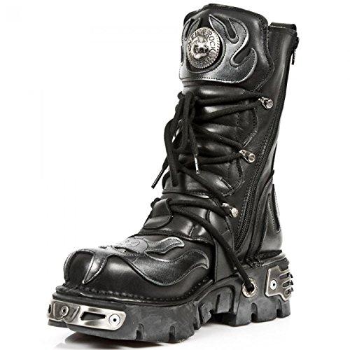 Nuovi Stivali Di Roccia M.107-s2 Gotico Hardrock Punk Unisex Stiefel Schwarz