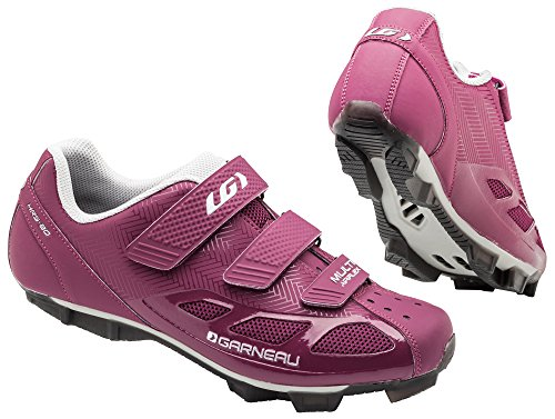 Louis Garneau Women's Multi Air Flex Bike Shoes, Magenta/Drizzle, 41