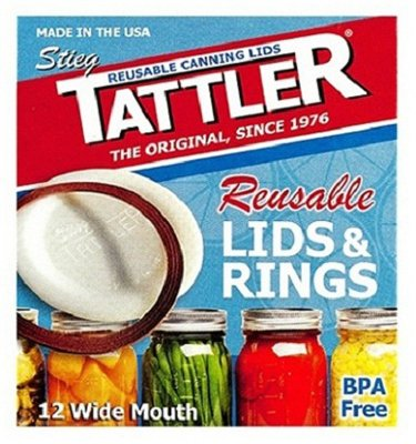 Tattler Home Products 1020-1 24 Piece, Wide Canning Lid & Ring