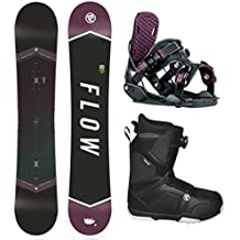 Flow 2018 Venus 147 Women's Snowboard Package Bindings BOA Boots (Boot Size 9)