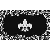 Toland Home Garden Fleur De Lis 18 x 30 Inch Decorative Floor Mat Classic Flower Design Pattern Doormat