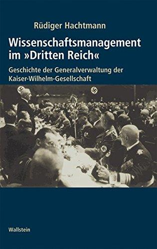 Wissenschaftsmanagement im »Dritten Reich«.