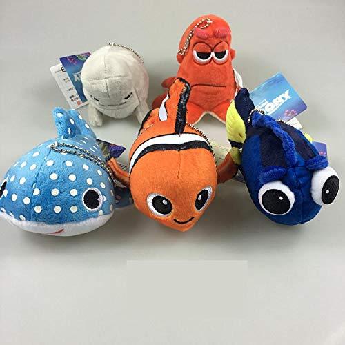 Lemongrass. I 5Pcs/Set 10Cm Cartoon Movie Cute Clown Fish Stuffed Animal Soft Plush Toy Doll Keychain Toy Pendant Gifts Boy Must Haves My Favourite Superhero Cupcake Toppers UNbox Box (Wii Game Battleship)