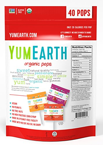 Large Product Image of YumEarth Organic Lollipops, Assorted Flavors, 50 Lollipops